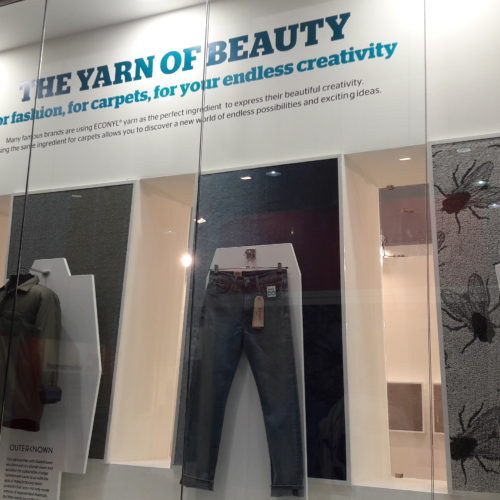 The dynamic effects of the use of the circular  ECONYL® yarn  both in textile and in carpet applications.