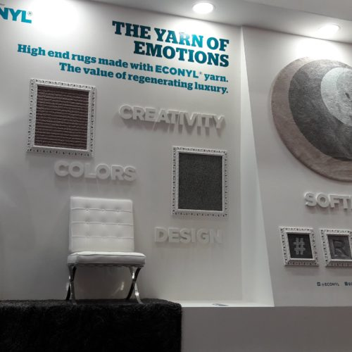 The ECONYL® yarn and the world of high-end luxury rugs.