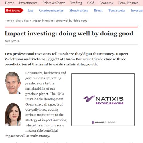 Aquafil - Impact investing: doing well by doing good