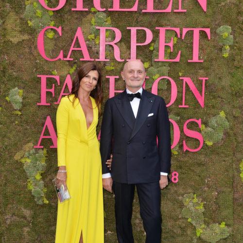 CEO of Aquafil, Giulio Bonazzi with his wife