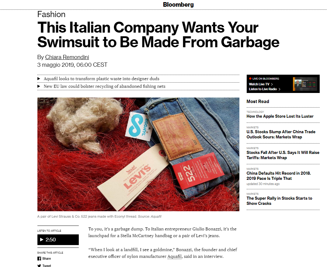 Aquafil - This Italian Company Wants Your Swimsuit to Be