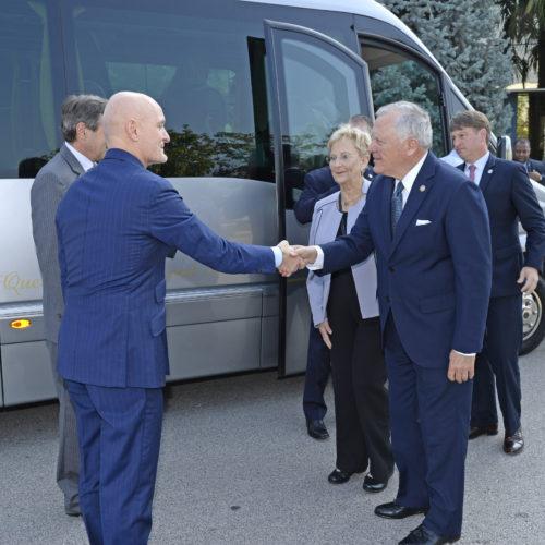 Giulio Bonazzi accoglie John Nathan Deal, il Governatore repubblicano della Georgia.