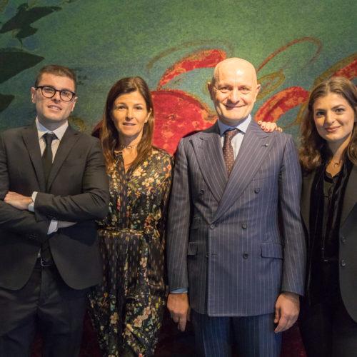 CEO Giulio Bonazzi and his family.