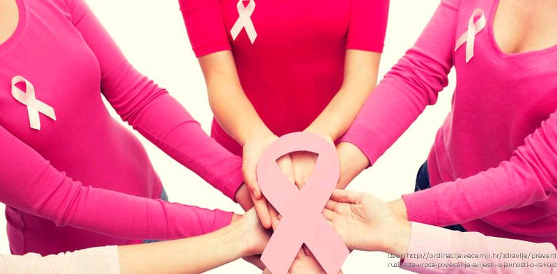 lotta contro il cancro donne vestite di rosa