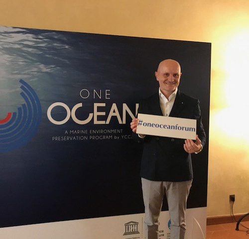Giulio Bonazzi speaker at One Ocean Forum in Italy