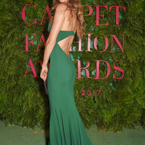 Gisele Bundchen attends the Green Carpet Fashion Awards, Italia, wearing Stella McCartney for the Green Carpet Challenge.  Pic Credit: Dave Benett