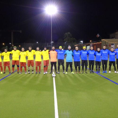Alcuni giocatori della squadra Aquafil durante gli allenamenti serali.
