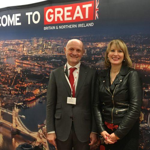 Giulio Bonazzi con Jill Morris, Ambasciatrice di S.M. Britannica in Italia