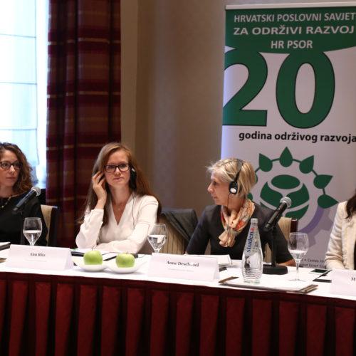S ljieve: Tena Šimonović Einwalter, zamjenica pučke pravobraniteljice, Anu Ritz, predstavnica Europske komisije, Anne Deschanel,  predstavnica francuske Povelje o raznolikosti,   i Mirjana Matešić, ravnateljica HR PSOR-a.
