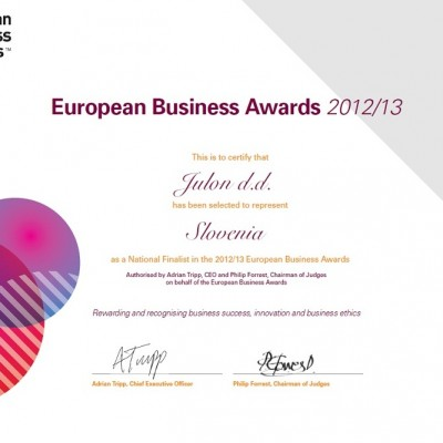 certificato business awards modificato