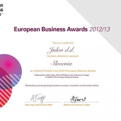certificato business awards modificato