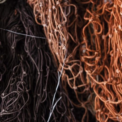 Fishing nets collected by Aquafil that will become ECONYL® regenerated nylon
