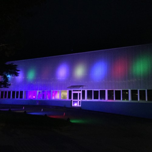 Aquafil illuminata per il cinquantesimo