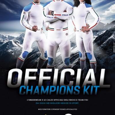 Anche quest'anno la FISI (Federazione Italiana Sport Invernali) ha scelto l'intimo Mico in Dryarn® per i suoi atleti