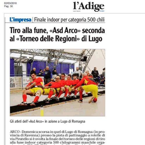 Gli atleti dell'«Asd Arco» in azione a Lugo di Romagna