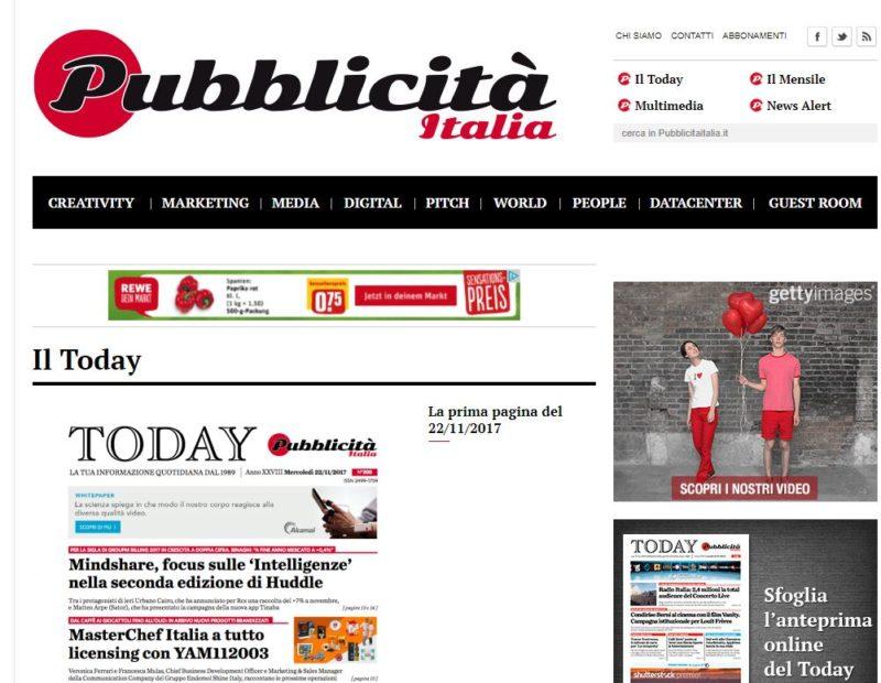 today pubblicità italia